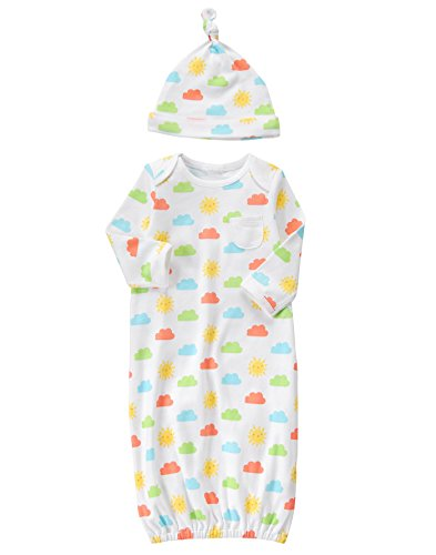 Gymboree Baby Toddler Boys Hat And Gown Layette Set  Multi  0 3 Months