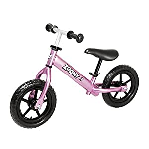 Zoomy Kids Aluminium Balance Bike. Super Light Weight. Suitable for Children from 18 Months to 6 Years. (Pink)