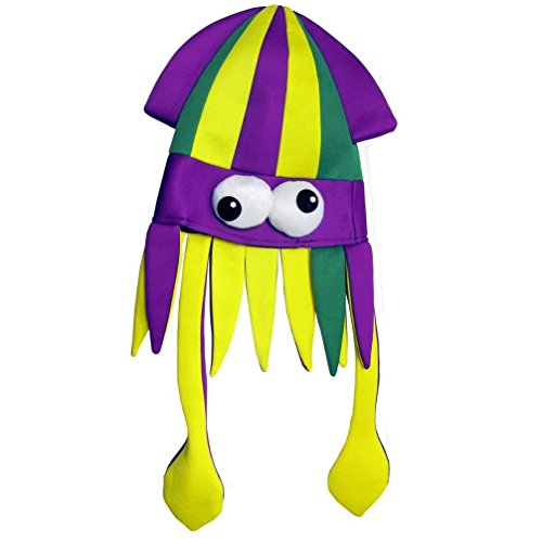 Mememall Fashion Mardi Gras Silly Squid Hat (Kids Union Officer Hat)