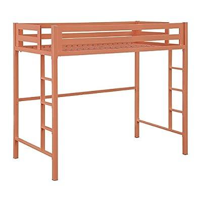 WE Furniture Murdock Metal Loft Bed, Twin, Mint