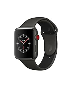 Apple Watch Edition Series 3 (GPS + Cellular), 42mm Ceramic case (Gray Ceramic Case with Gray/Black Sport Band)