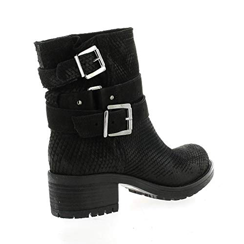 Noir Nubuck Serpent Pao Cuir Boots xIvYPYgC