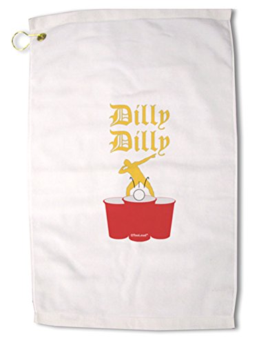 TooLoud Dilly Dilly Funny Beer Premium Cotton Golf Towel - 16'' x 25''