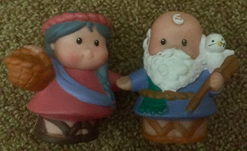 - Vintage Little People Noah & Wife 2002 - Replacement Figure - Classic Fisher Price Collectible Figures - Zoo Circus Ark Pet Castle