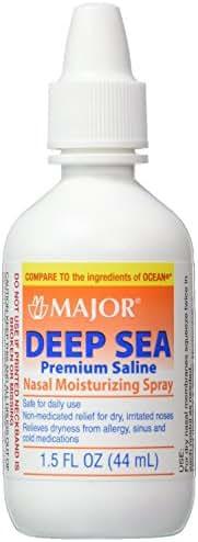Major Pharmaceuticals Deep Sea Saline Generic for Ocean Nasal Moisturizing Spray, 1.5 Ounce