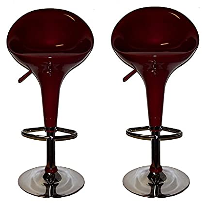 Amazoncom Afo 4484bd Contemporary Air Lift Swivel Burgundy Bar