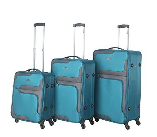 28' Spinner (InUSA 3D- City lightweight softside spinner 3 piece Set 20'',24'',28'' inch Turquoise)