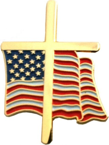 American Flag Cross 3/4