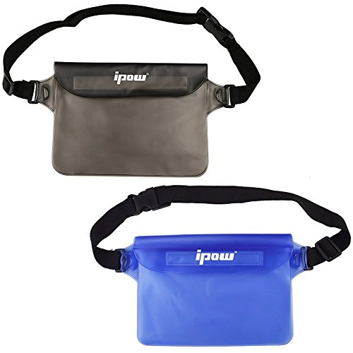 - IPOW IP68 Waterproof Pouch with Waist Strap (2 Pack) | Best Way to Keep Your Phone and Valuables Safe and Dry | Perfect for Boating Swimming Snorkeling Kayaking Beach Pool Water Parks