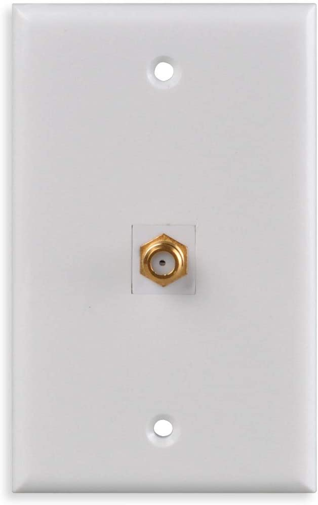 Coaxial Wall Plate, Conshine F-Connector Keystone Jack for TV Coax Cable/F-Type Wall Plate