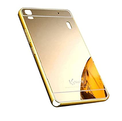 sports shoes 56222 d92ac Luxury Mirror back cover for Lenovo A7000 Golden: Amazon.in: Electronics