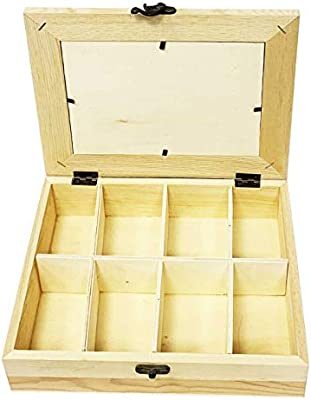 Acan Caja portafotos de Madera con 8 divisiones: Amazon.es: Hogar