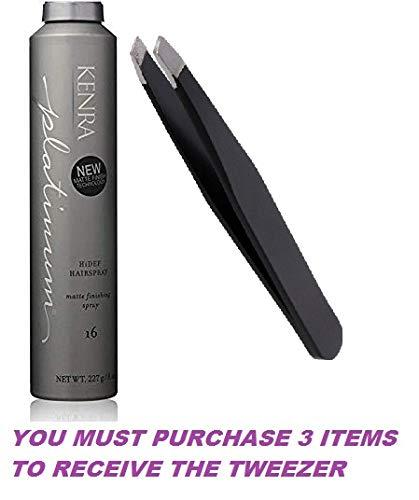 (Platinum matte finishing HiDef Hairspray #16, 8oz+FREE PROFESSIONAL TWEEZER)