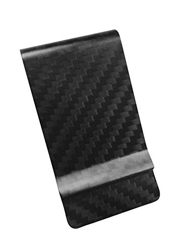 Money Clip Matte Carbon Fiber Credit Card MGCFTan Business Card Holder 3K twill Black Carbon