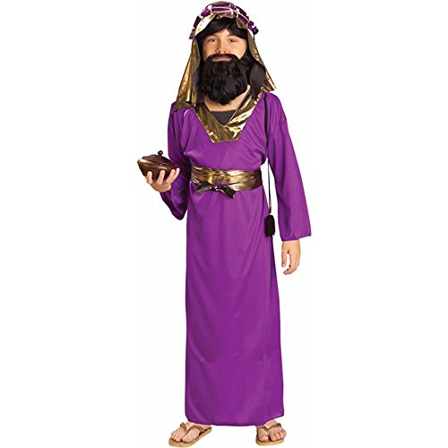 Burgundy Wiseman Child Costume (Forum Novelties Biblical Times Purple Wiseman Child Costume,)