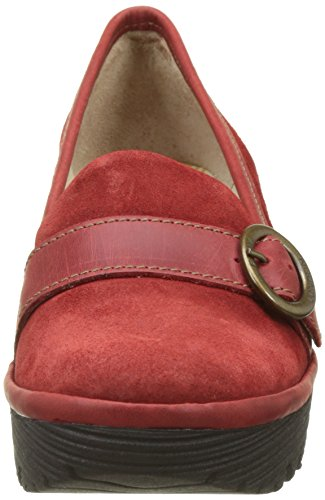 Femme Mocassins Red Rouge London Fly YOND771FLY pour qpgwHxZ7