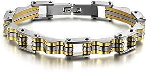 Mens titanium gold bracelet for men fashion jewelry design chain buckle GS623