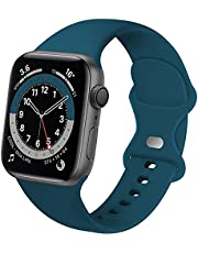 Distore Bands Compatible with Apple Watch 38mm 40mm 42mm 44mm, Soft Silicone Replacement Sport Accessory Strap Wristband for iWatch SE Series 6/5/4/3/2/1 Women Men