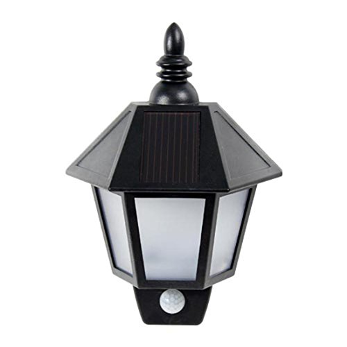 41oPBifIl8L - Antique Outdoor Solar Wall Lantern Light Exterior Wall Sconce with Motion Detect & Dusk to Dawn Sensor