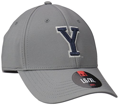 Under Armour NCAA Renegade Stretch Fit Hat, Brigham Young University, Graphite, (Brigham Young University)