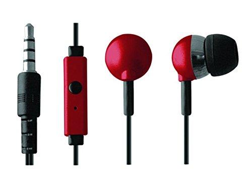 Sentry Stereo Earbuds w/Mic Red