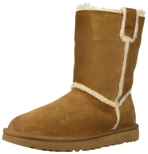 UGG Women's W Classic Short Spill Seam Fashion Boot, chestnut 219, 9 M US (Sale Short Ugg)
