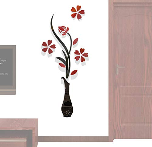 Hermione Baby 3D Vase Wall Murals for Living Room Bedroom Sofa Backdrop Tv Wall Background Originality Stickers Gift DIY Wall Decal Wall Decor Wall Decorations Red 59 X 23 Inches