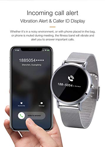 RE TAKE CV08C Smart Watch Hombre Men Women Smartwatch Blood Pressure Heart Rate Monitor Whatsapp Facebook Fitness Tracker with 3 to 4 Days Battery Back up