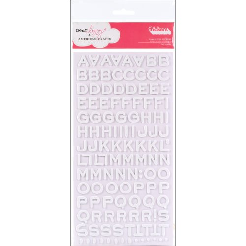 American Crafts Thickers Foam Letter Stickers, Fantastic White ()