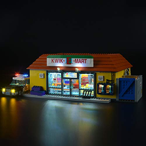 LIGHTAILING Light Set for (Simpsons The Kwik-E-Mart) Building Blocks Model - Led Light kit Compatible with Lego 71016(NOT Included The Model) (Kwik E-mart Simpsons)
