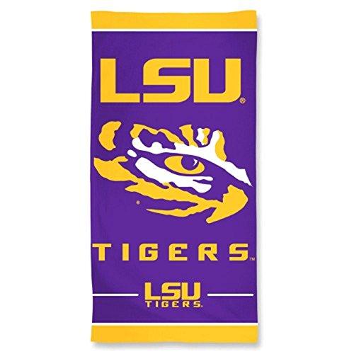 NCAA Louisiana State Fightin Tigers 30 by 60 Fiber Reactive Beach Towel ()