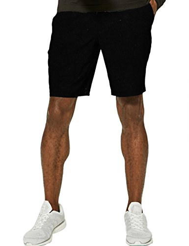 Mens Athletic Gym Sweat Shorts Running Workout - All Running Shorts Black