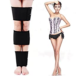 Ueasy Adjustable Authentic Bandages to Correct O- type Legs X-type Legs 3 Kits Available New Fashion O Form X Legs Form Correction Band One Size Fits All Black (Advanced Version)