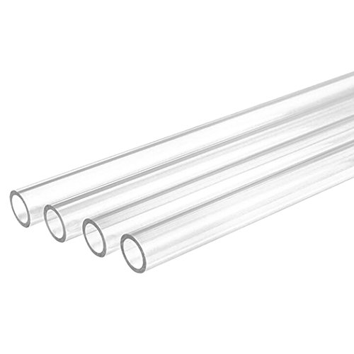 PNML PETG Tubing (Normal Temperature), 12mm ID, 16mm OD, 500mm Length, Clear, 4-Pack