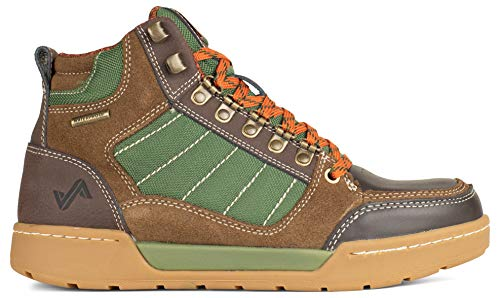 Forsake Hiker - Men's Waterproof Leather Hiking Shoe (11.5, Brown/Green) (Best Affordable Hiking Shoes)
