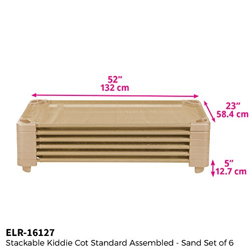 ECR4Kids Children Naptime Cot Stackable Daycare Sleeping Cot for Kids 52 L x 23 W ReadytoAssemble