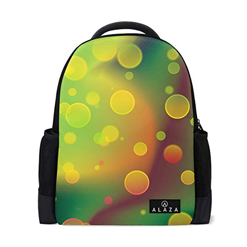 Backpack Colorful Bubbles Mens Laptop Backpacks Shoulder Hiking Daypack