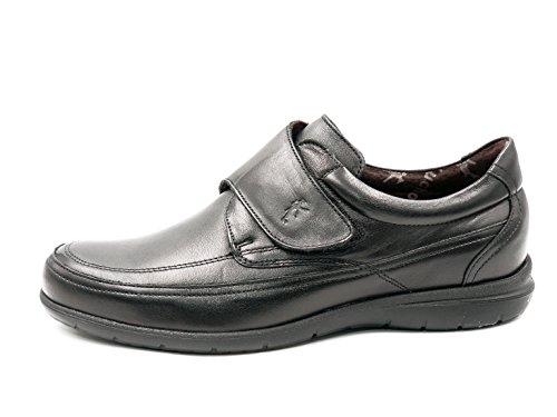 Extraible Zapatos Color FLUCHOS 102 Piel Plantilla 8782 Negro Negro Hombre con Velcros axqgUa