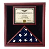 Large Flag and Certificate Display Case, This Case Will Hold the Burial Flag Vfrom a Military Funerl, the Case Is Cherry Wood, and Hand Made By American Veterans