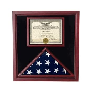 .com: flag and certificate display case for 3ft x 5 ft flag ...
