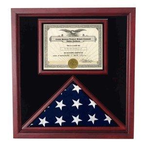Amazoncom Military Award And Flag Display Case Document Frames