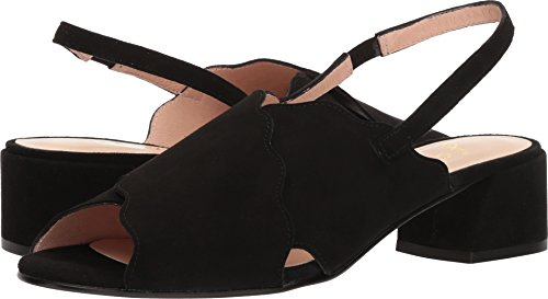 Flats French Sole Suede (French Sole FS/NY Women's Bid2 Pump, Black, 6.5 Medium US)
