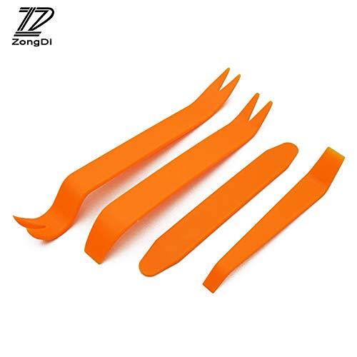 Fastener & Clip ZD 4 piezas herramienta de extracción de puerta de audio para Kia Rio Ceed Sportage Peugeot 307 206 308 207...