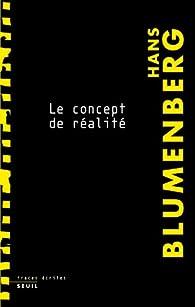 Le concept de réalité par Hans Blumenberg