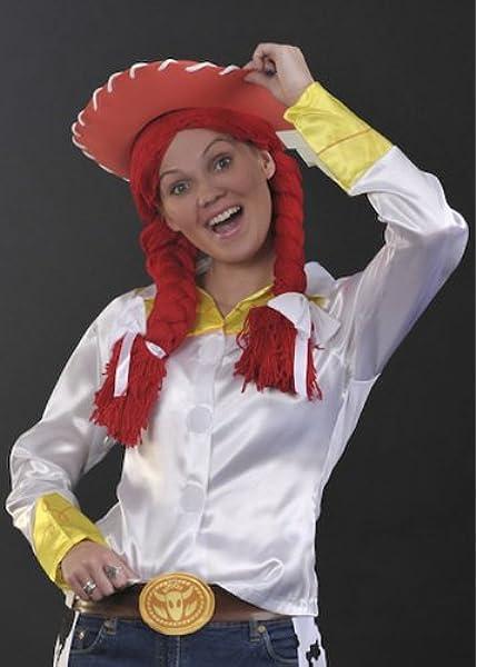Damas disfraces Jessie Toy Story estilo peluca roja: Amazon.es ...