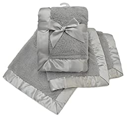 American Baby Company Sherpa Receiving Blanket, Gray