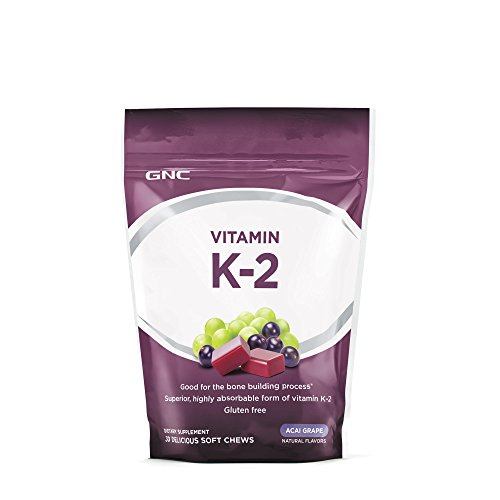 GNC Vitamin K-2, Acai Grape, 30 Soft Chews