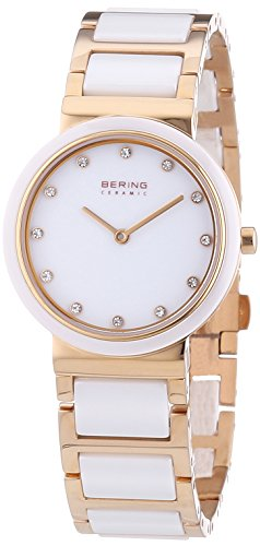 BERING Time 10729-766 Women's Ceramic Collection Watch with Ceramic Link Band and scratch resistant sapphire crystal. Designed in Denmark.