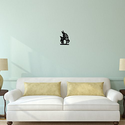 Goat Chinese Zodiac Wall Decal Sticker - Decal Stickers and Mural for Kids Boys Girls Room and Bedroom. Zodiac Wall Art for Home Decor and Decoration - Chinese New Year Silhouette Mural