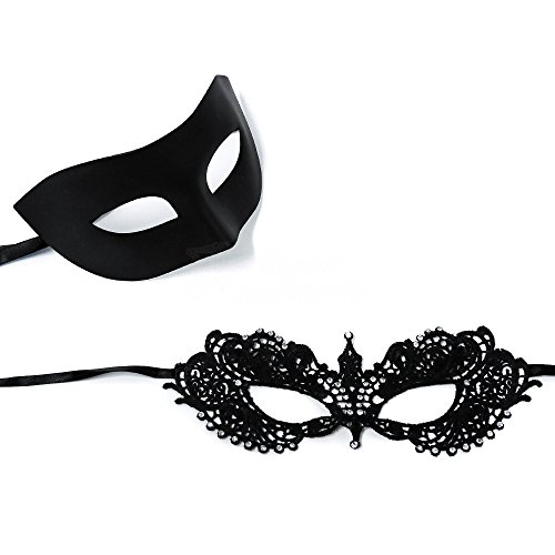 BeyondMasquerade Anastasia Inspired RHINESTONES Lace Mask (Black) by BeyondMasquerade